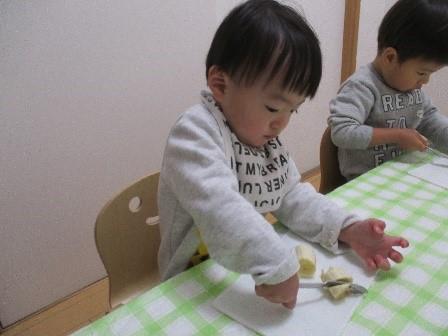 バナナとジャガイモを切ろう-1